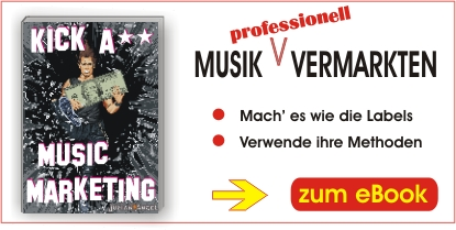 "e-Book ""Kick A** Music Marketing"" - Musik professionell vermarkten"